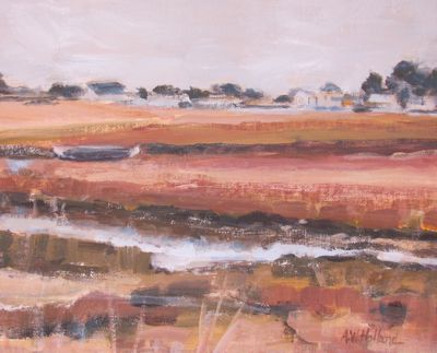 """Oyster Marsh,Winter""  SOLD"